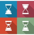 Icons sandglass vector image