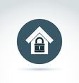 Padlock lock and house classic icon apartment and vector image