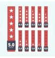 Set of star rating badges vector image
