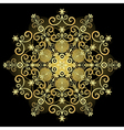 gold vintage snowflake vector image