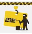 under construction indusrtail worker helmet vector image