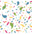 multicolored feathers on a white background vector image