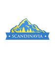Blue logo of scandinavia vector image