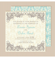 wedding vintage invitation vector image