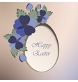 Template card with spring flowers vector image