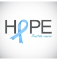 Prostate Cancer Awareness Blue Ribbon vector image