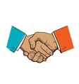 Symbol of cooperation friendship partnership vector image