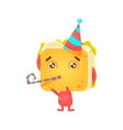 Sandwich Character On Birthday Party vector image vector image