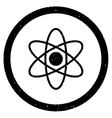 Atom Rounded Grainy Icon vector image