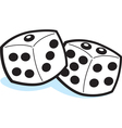 Cartoon Pair of Dice vector image