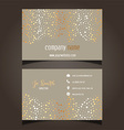 gold stars business card layout 0605 vector image