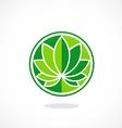 leaf round lotus spa logo vector image