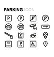 line parking icons set vector image