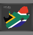 south africa map with national flag vector image