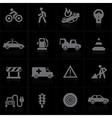 Traffic application icons vector image