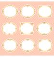 vignette frames color vector image