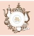 Vintage Tea Frame vector image