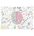 Concept of the human brain vector image