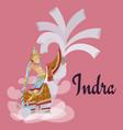 indra sitting on elephant hindu gods invitation vector image