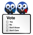 Dis voters vector image vector image