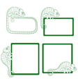 Set of icons with green chameleon vector image
