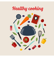 Kitchen Healthy Cooking Concept vector image