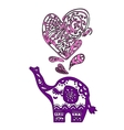 Valentine elephant with heart vector image