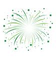 green firework vector image