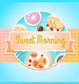 breakfast round template vector image