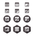 calendar flat icon set vector image
