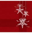 christmas snowflake card vector image