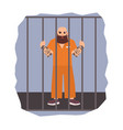 colorful featuring male prisoner vector image
