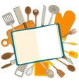Flat design banner of kitchenware isolated vector image