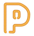 letter p bread icon cartoon style vector image
