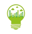 bulb energy recycle envioment nature design vector image