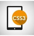 web development smartphone css3 vector image