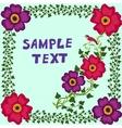 Retro doodle floral background vector image