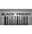 Black Friday Barcode for Special Price Products vector image