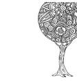 tree mandala art for coloring book vector image