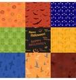 Nine Halloween texture pattern collection set vector image vector image