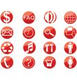 media web buttons vector image vector image