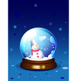 snowglobe with snowman vector image vector image