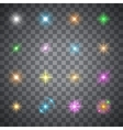 glowing flare vector image