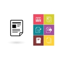 Document icon or file symbol vector image vector image