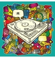 Music background in color vector image vector image