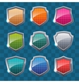 Collection of colorful shields vector image