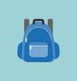 blue rucksack or backpack vector image