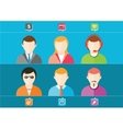 Business set of stylish avatars of woman girls and vector image