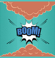 comic page explosive template vector image