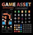 game asset seamless patterns and sprites vector image